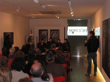 Fernán Vello na presentación de O pouso do fume